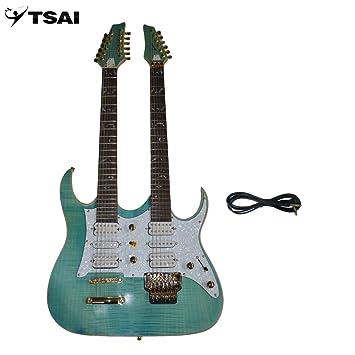 SY-NE-002 Guitarra eléctrica Double Necks con doble pastilla individual y doble (