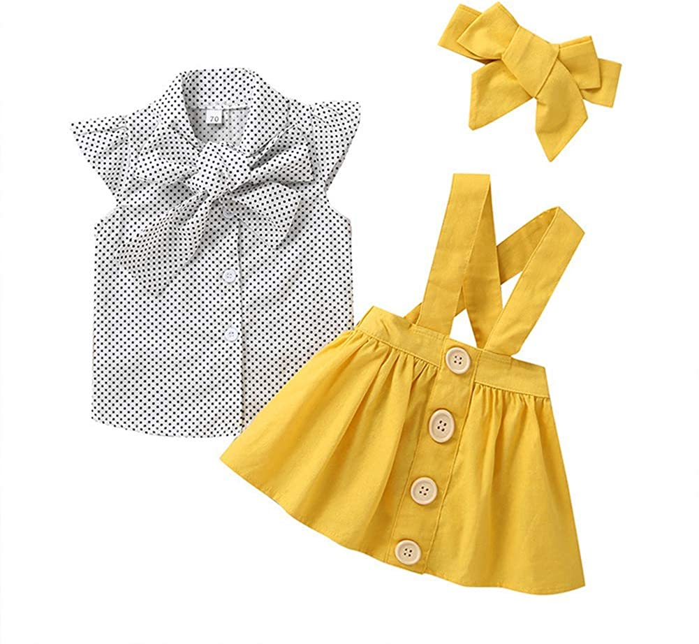 IBTOM CASTLE Polka Dots Tutu Costume for Baby Girl Princess 1st Birthday Party,Dress Up w//Overall Suspender Skirt,Headband