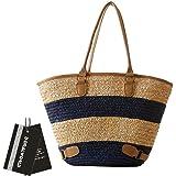 Donalworld Women Summer Bag Corn Husk Woven Straw Beach Shoulder Bag