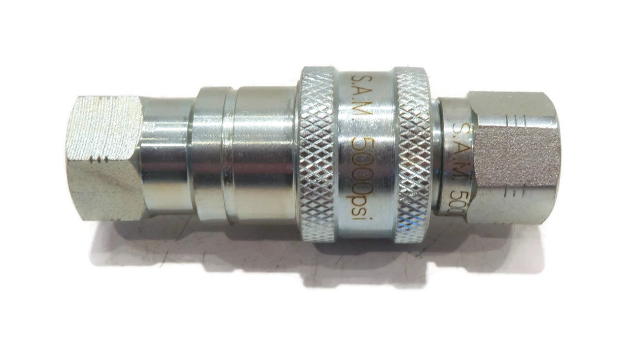 The ROP Shop 1/4'' Hydraulic Quick Coupler for Western 25232 Meyer 15072 Fisher A1587 Snowplow