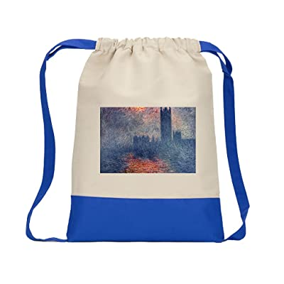 e6c19656c540 Pleasure Boats At Argenteuil (Monet) Canvas Backpack Color Drawstring Bag  hot sale