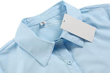 camisa de ocio BeautyUU Camisa de manga larga para mujer blusa monocroma camisa de negocios algod/ón