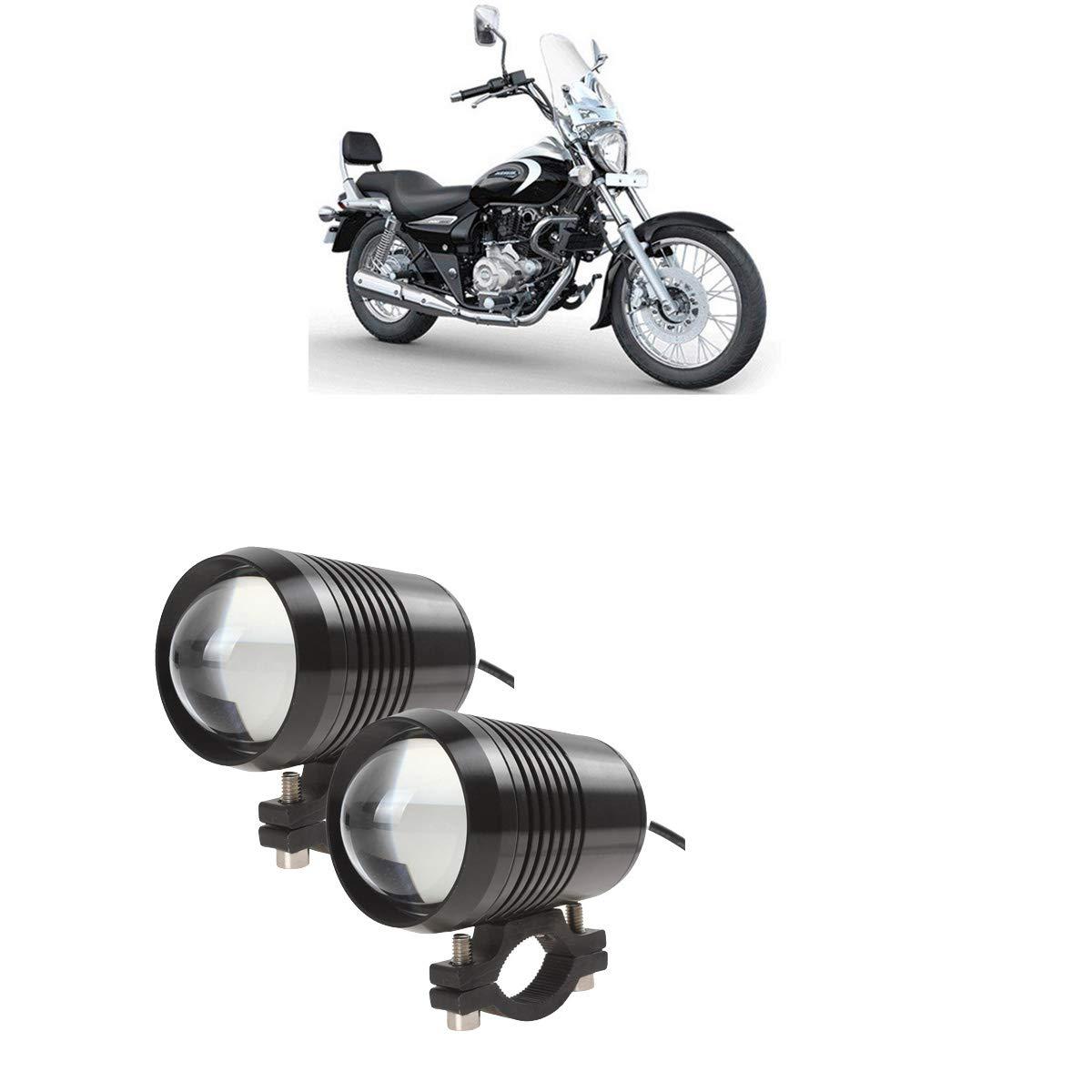 Switch 2PCS CREE U1 Lens LED Motorcycle Headlight Driving Fog Light Spot Lamp