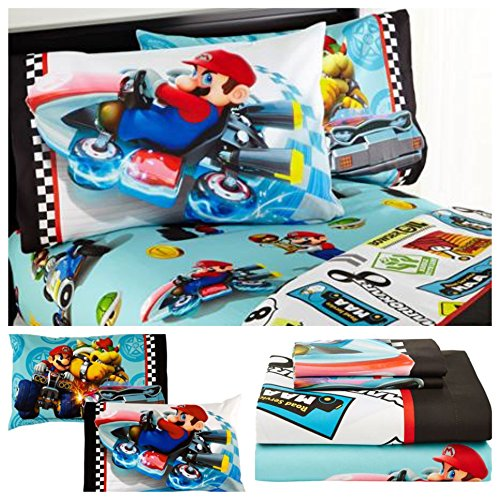 Nintendo Mario Kart Super Mario Bros Sheet Set - Full by Mario Kart
