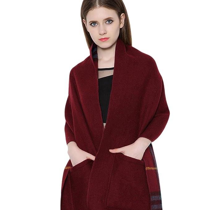 design innovativo consistenza netta prodotti di qualità CharmLeaks - Sciarpa - Cappotto - A quadri - Donna Red 2 ...