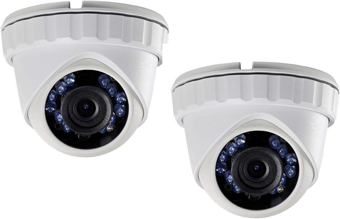 (2X) LTS CMHT2122-28 HD-TVI 2.1MP 1080P 2.8mm Smart IR LED 65ft Security Camera