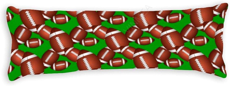 yyone Decorative Body Pillow Cover Footballs Pattern Long Body Pillow Case 20 X 60 Inch