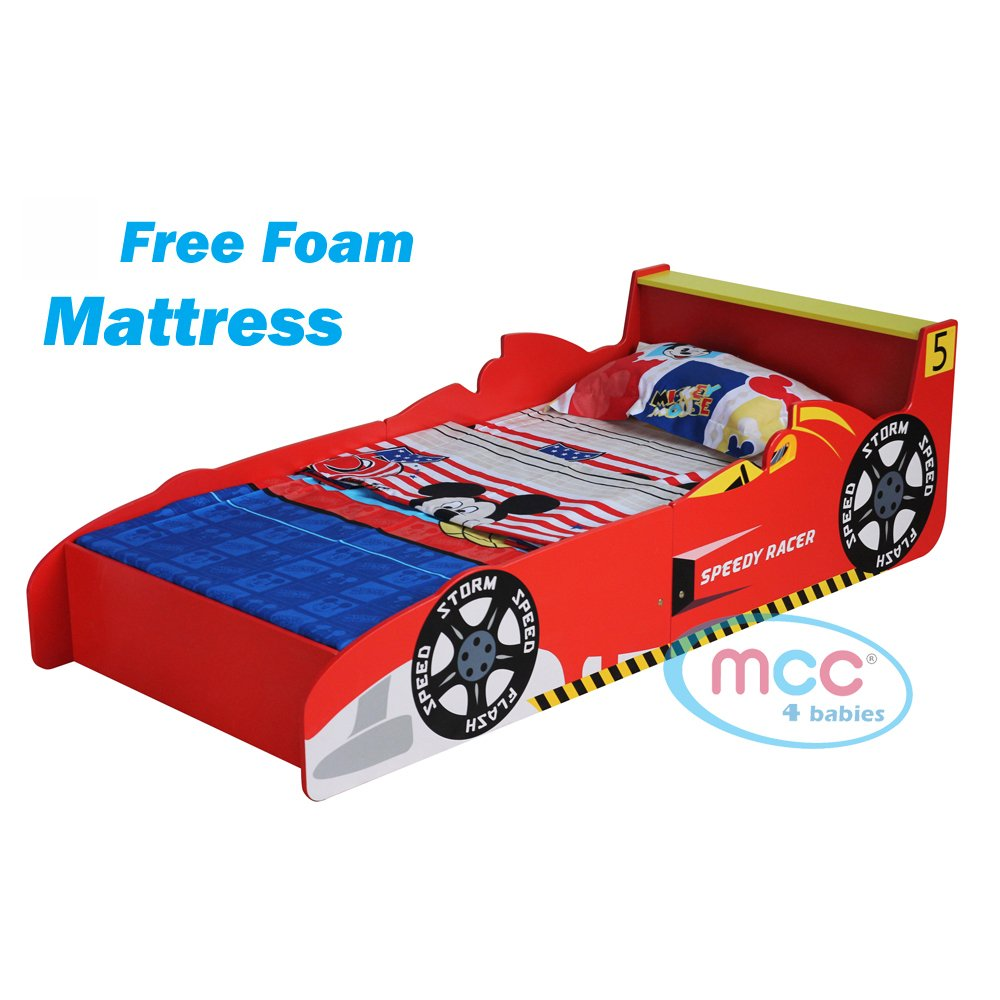 MCC Cars Speed Junior, Toddler, Kids Bed with Luxury Foam Mattress Made in England SCJB01