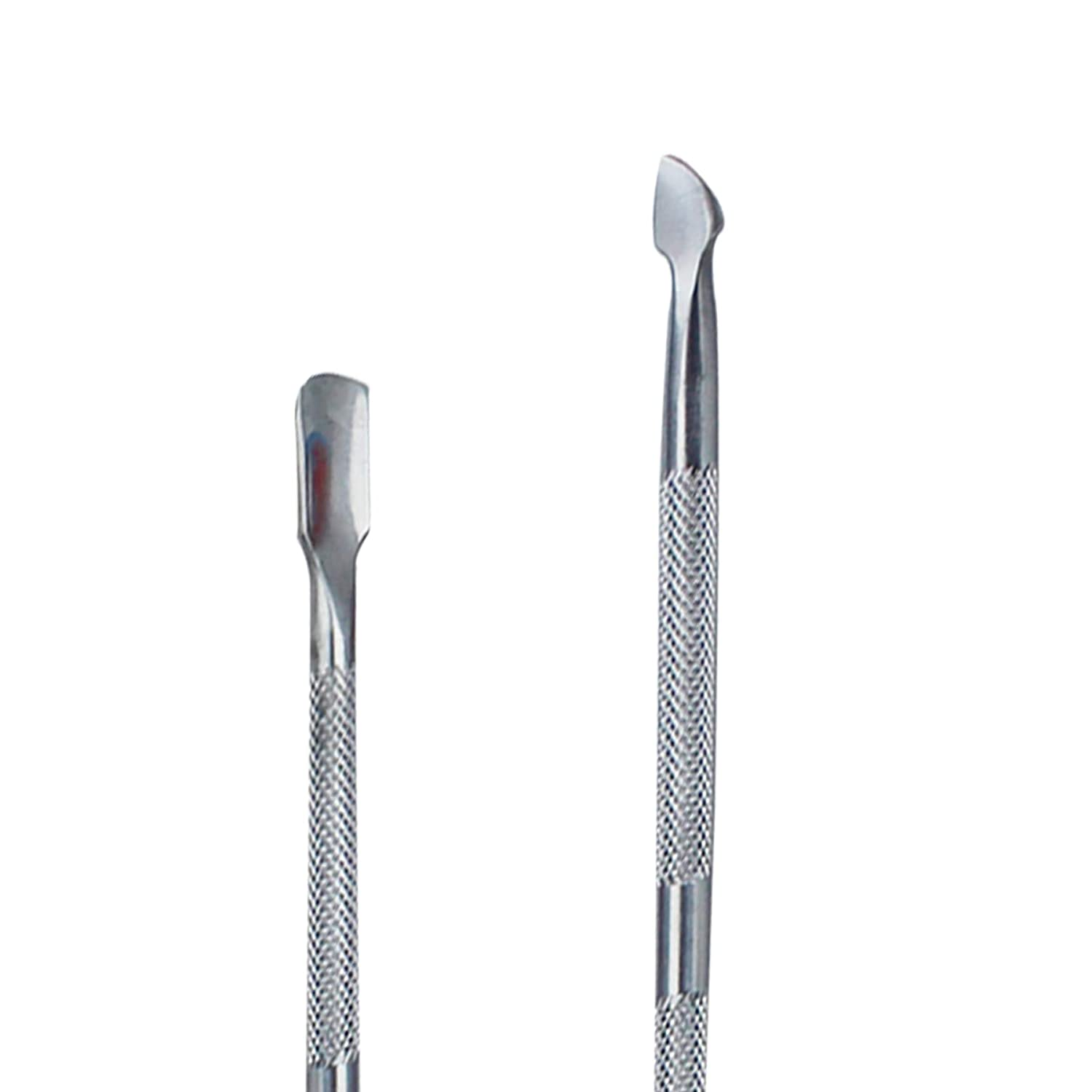 3X Stainless Steel Metal Nail Cuticle Pusher Scraper Polish Gel Remover Manicure Lillyvale