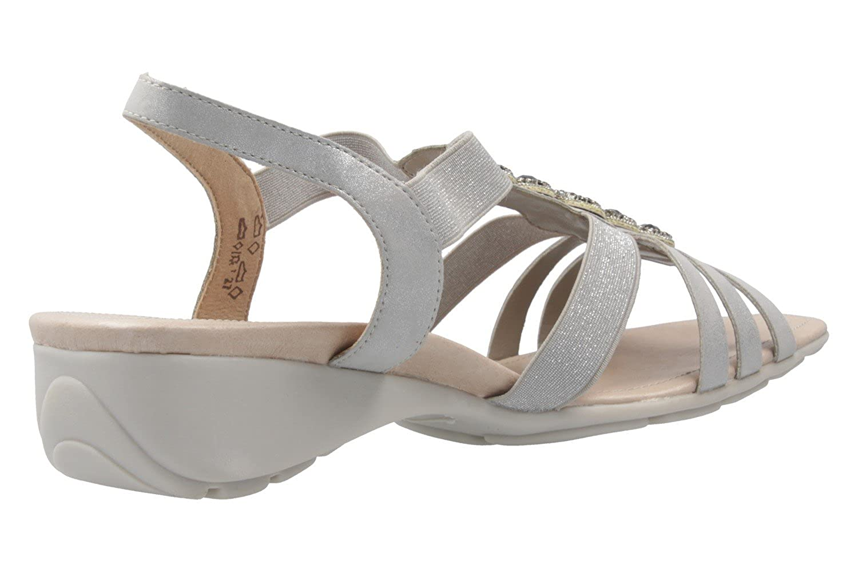 Remonte - Damen Sandalen - Schuhe Silber Schuhe - in Übergrößen - 31fe87