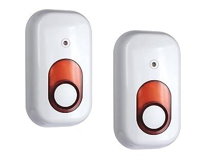 Juego de 2 sirena interior Accesorios para Elro Home Sistema ...