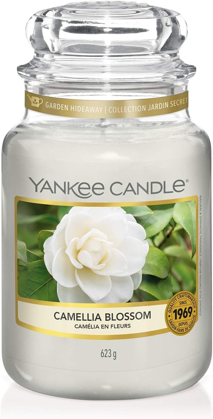 grande taille |Cam/élia en fleurs La Collection Garden Hideaway jusqu/'/à 150 heures de combustion Yankee Candle bougie jarre parfum/ée