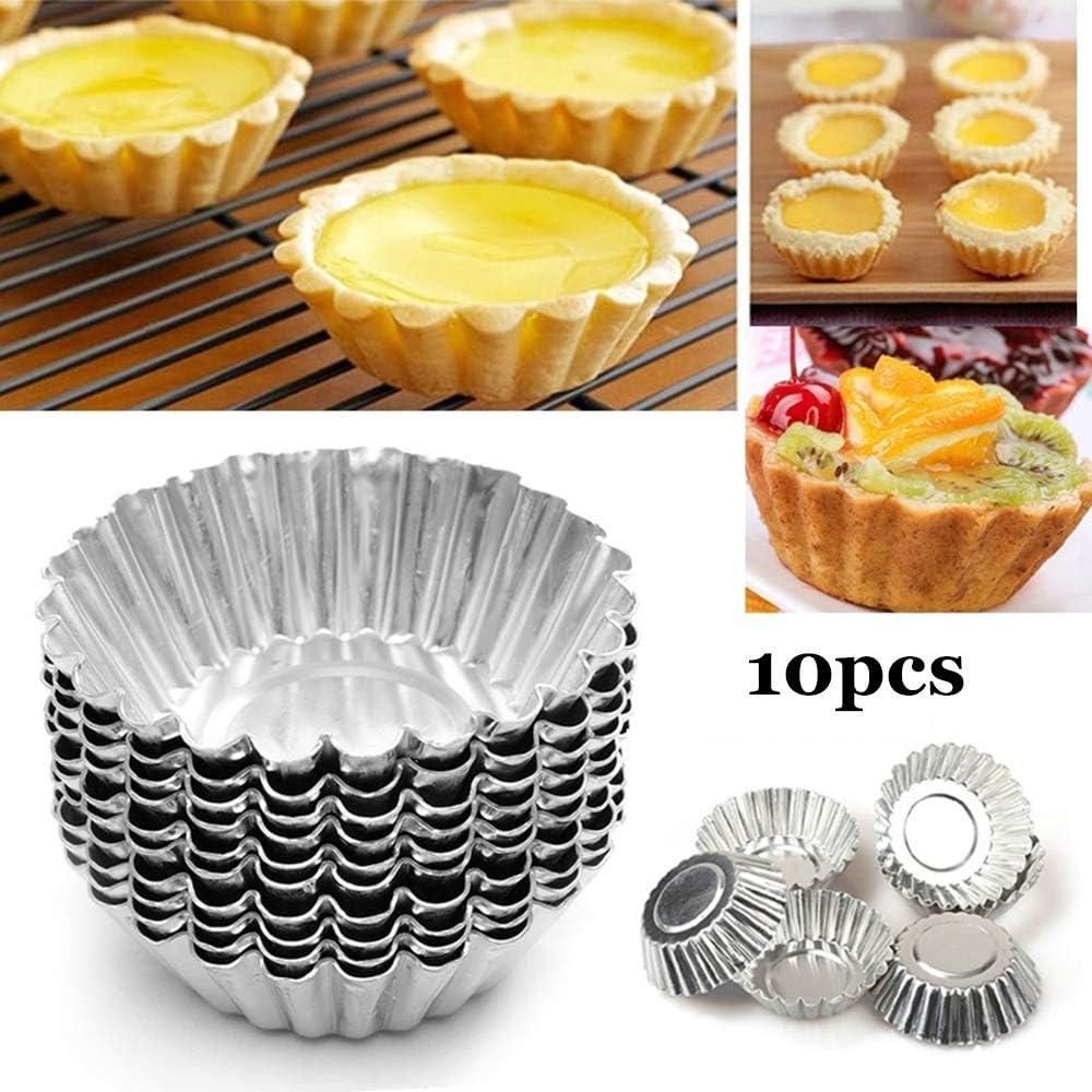 Carbon Steel, 24pcs Cookie Cake Mold Aluminum Nonstick Large Reusable for Baking Tiny Pie Molds Egg Tart Molds