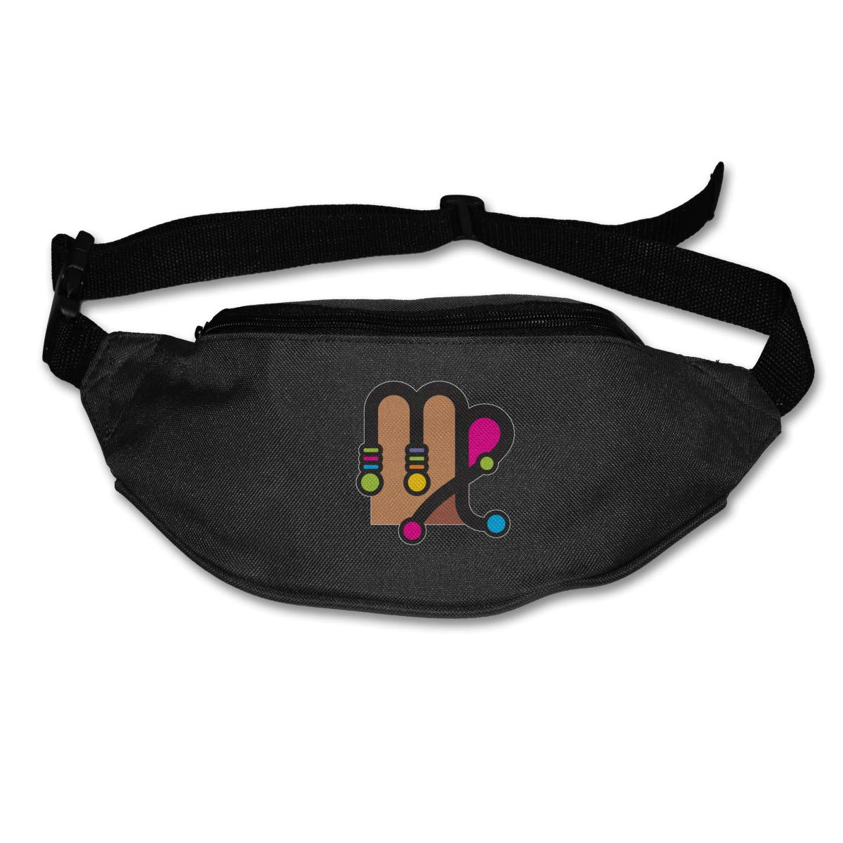 Colorful Virgo Sport Waist Pack Fanny Pack Adjustable For Travel