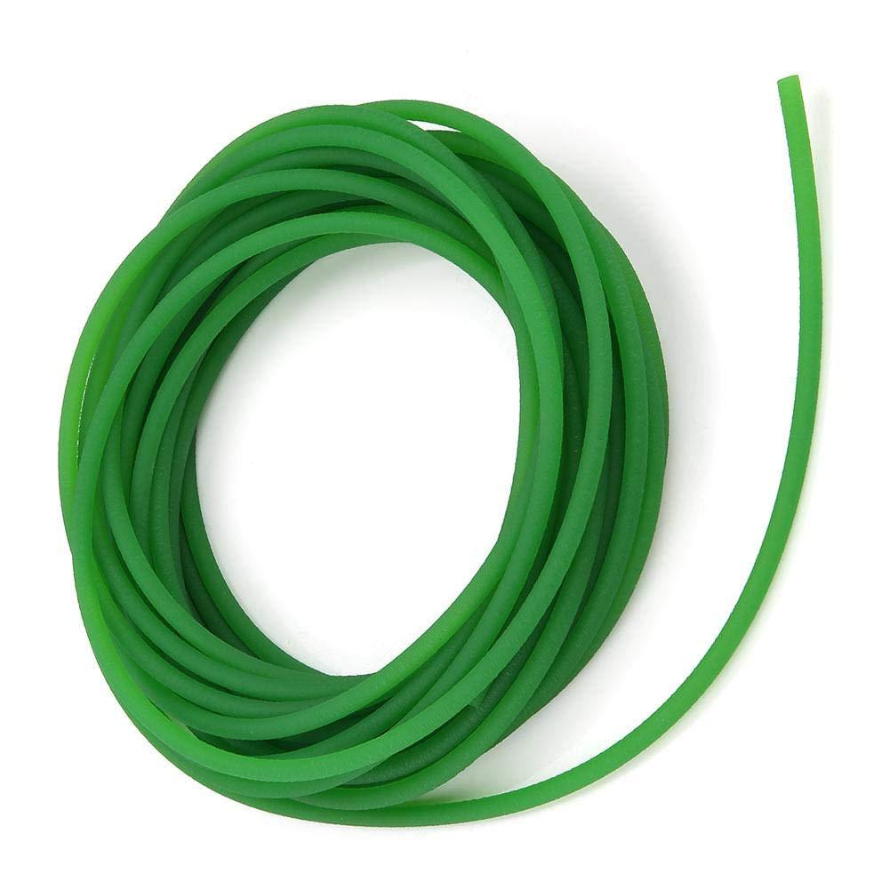 2mm10m PU Transmission Belt,Walfront High-Performance Urethane Round Belting Green Rough Surface PU Polyurethane Round Belt for Drive Transmission