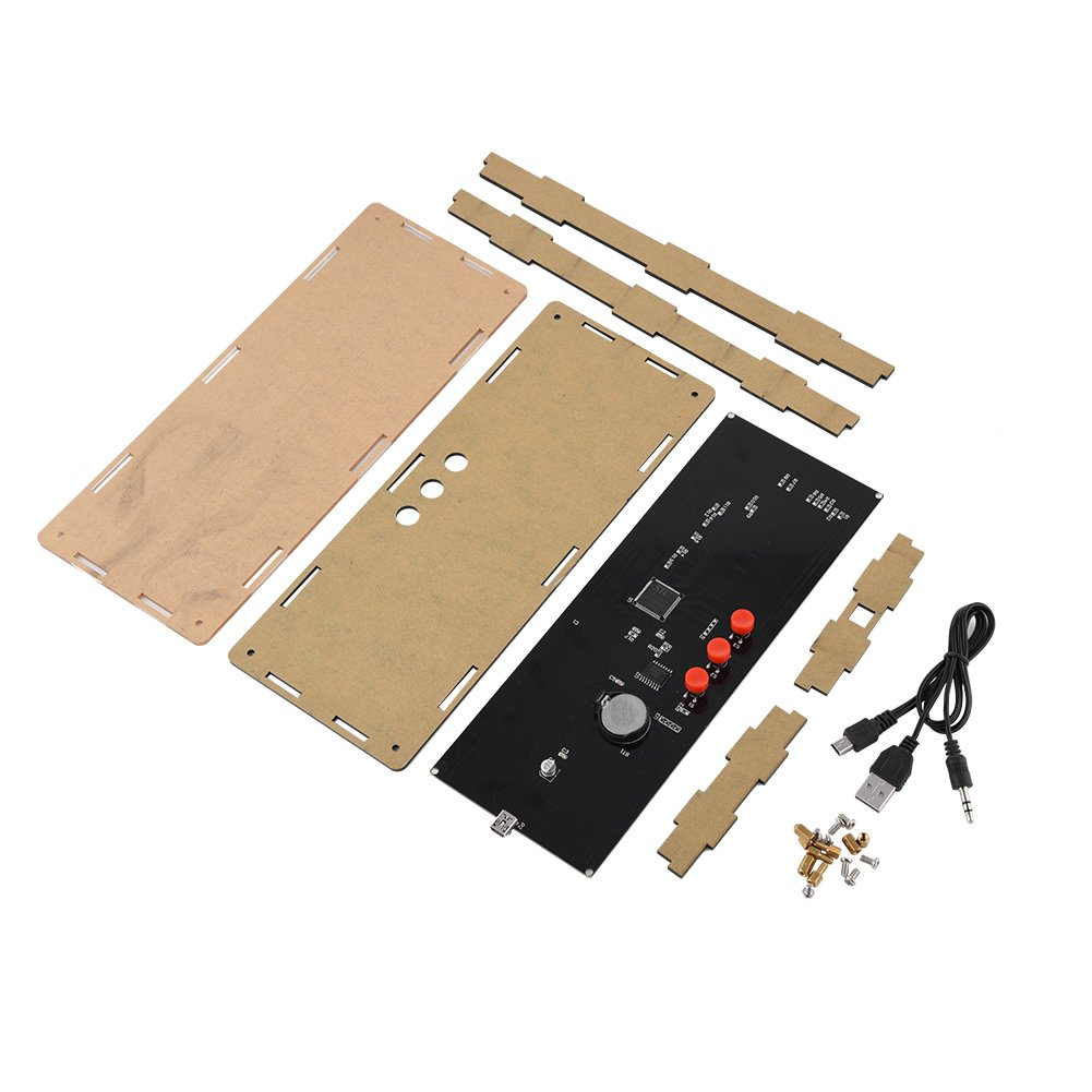 Zerone DIY Kits 384Pcs Luces LED Digital Audio Music Spectrum Analyzer Display con Shell