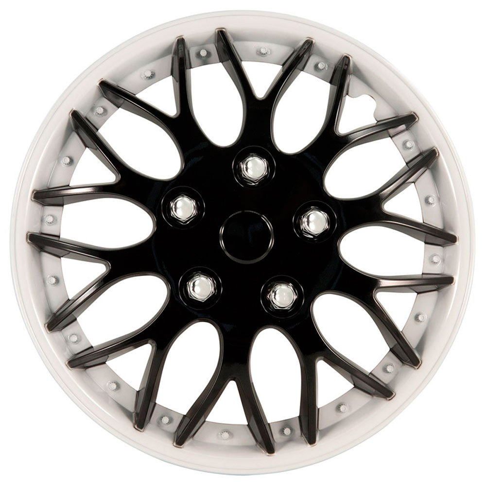 Autostyle KT970 W//IB Set Missouri Negro Tapacubos 4 unidades