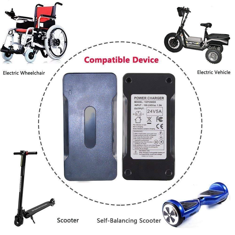 Abakoo Mobility carica batterie per scooter Schwinn S500/eZip 4.0/400/500/750/900,/Trailz Bike adattatori XLR 24V 5A Jazzy