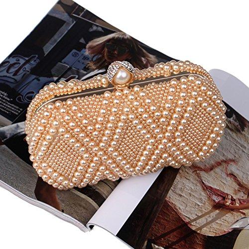 7x10x20cm clutch perle Pour femmes C en dîner Sac soirée et fête 3x4x8inch rhinestone purse Forfait de Womens C de strass les de mariage wqvSqYfx