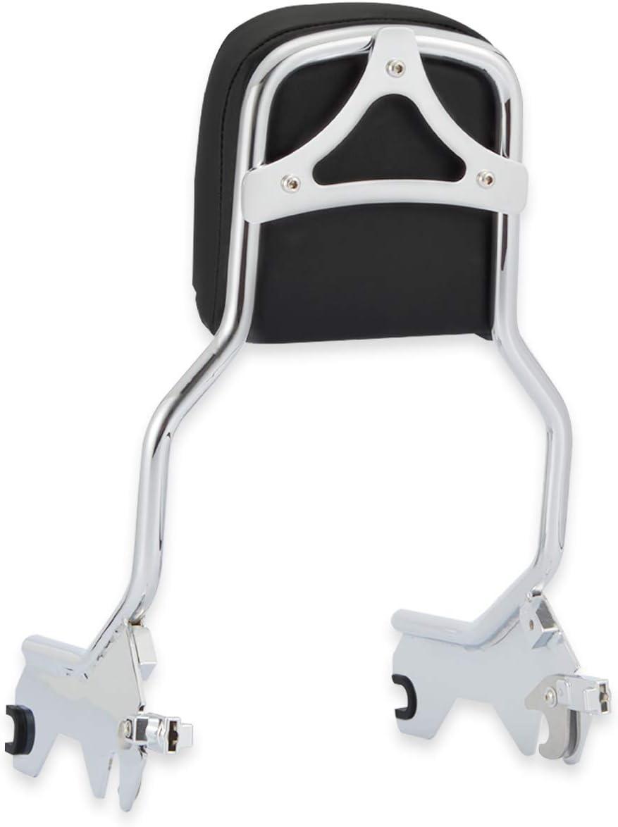 WeiSen Chrome Detachable Standard Height Passenger Backrest Sissy Bar w//Pad and Docking Hardware Kit Compatible with 2018-UP Harley Softail FLDE FLHC FLHCS FLSL FXBB