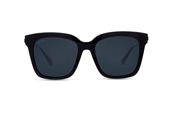 058de0e96b2 Image Unavailable. Image not available for. Color  Diff Eyewear  Bella -  Designer Square Sunglasses ...