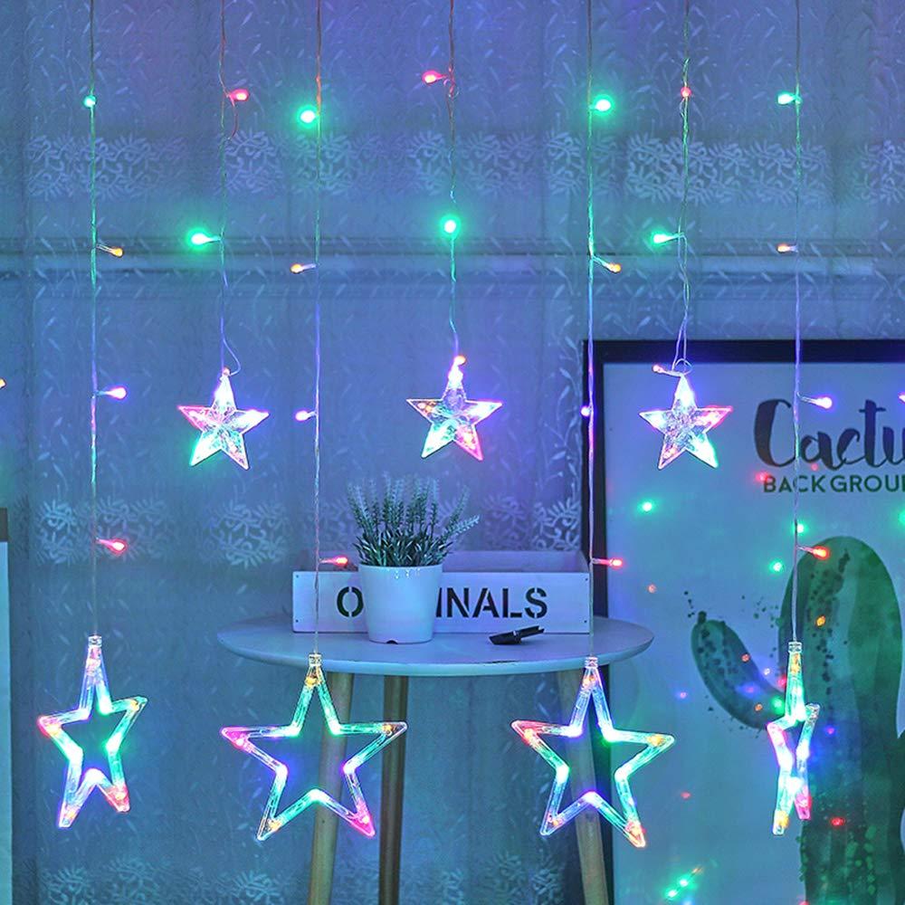 Leepesx Lampada per Tende Stella di Natale Luci per Tende Luci Decorative Decorazione Leggera 220V
