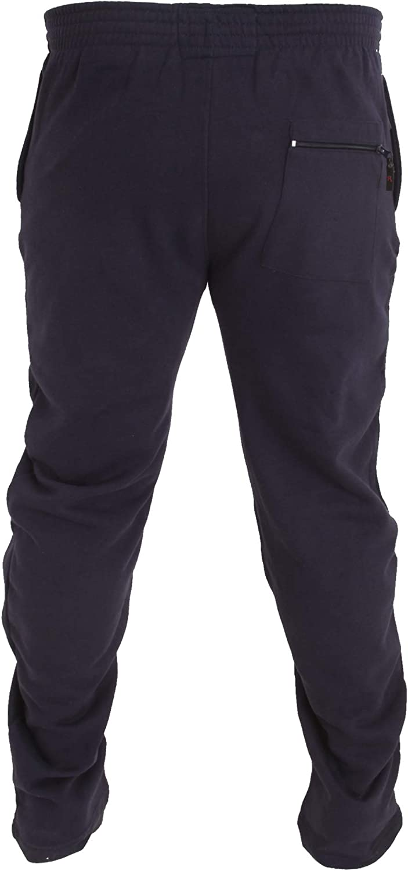 Duke Pantalones de chándal en talla grande con dobladillo abierto ...