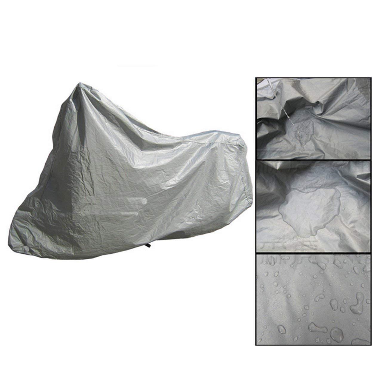 Argento Jasnyfall Copri Moto Protettiva Completa Anti UV Impermeabile Antipolvere Copertura Pioggia Moto Traspirante Cappuccio Tenda Esterna Coperta
