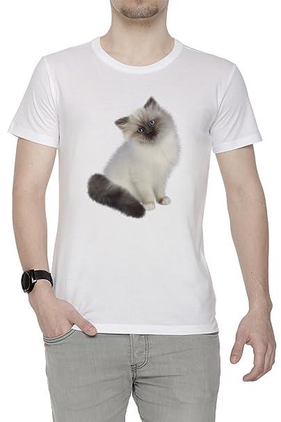 Muñeca De Trapo Gato Raza Hombre Camiseta Cuello Redondo Blanco Manga Corta Todos Los Tamaños Mens T-Shirt White All Sizes: Amazon.es: Ropa y accesorios