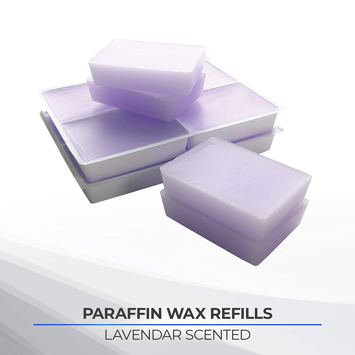 Performa Paraffin Wax Refills, Lavender Scented Blocks, Case of 6, 1 Pound Low-Melt Beads with Aromatherpy Oil Scent, Medical Grade Wax for Paraffin Bath, Heated Wax for Hands, Feet, Arthritis