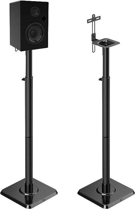 Mounting Dream Lautsprecherständer Höhenverstellbar Bücherregal Lautsprecherständer Paar Für Universal Satellitenlautsprecher Set 2 Stück Für Bose Polk Jbl Sony Yamaha 5 0 Kg Kapazität Küche Haushalt