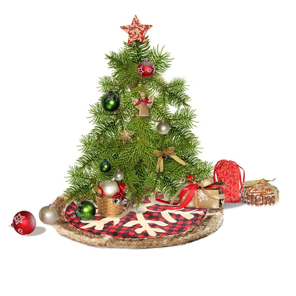 Jinjin Christmas Rug Supplies Christmas Tree Scene Decoration Red Plaid Snowflak Floor Runner Area Rugs Non-Slip Floor Mat Doormats Living Room Bedroom (Multicolor) by Jinjin