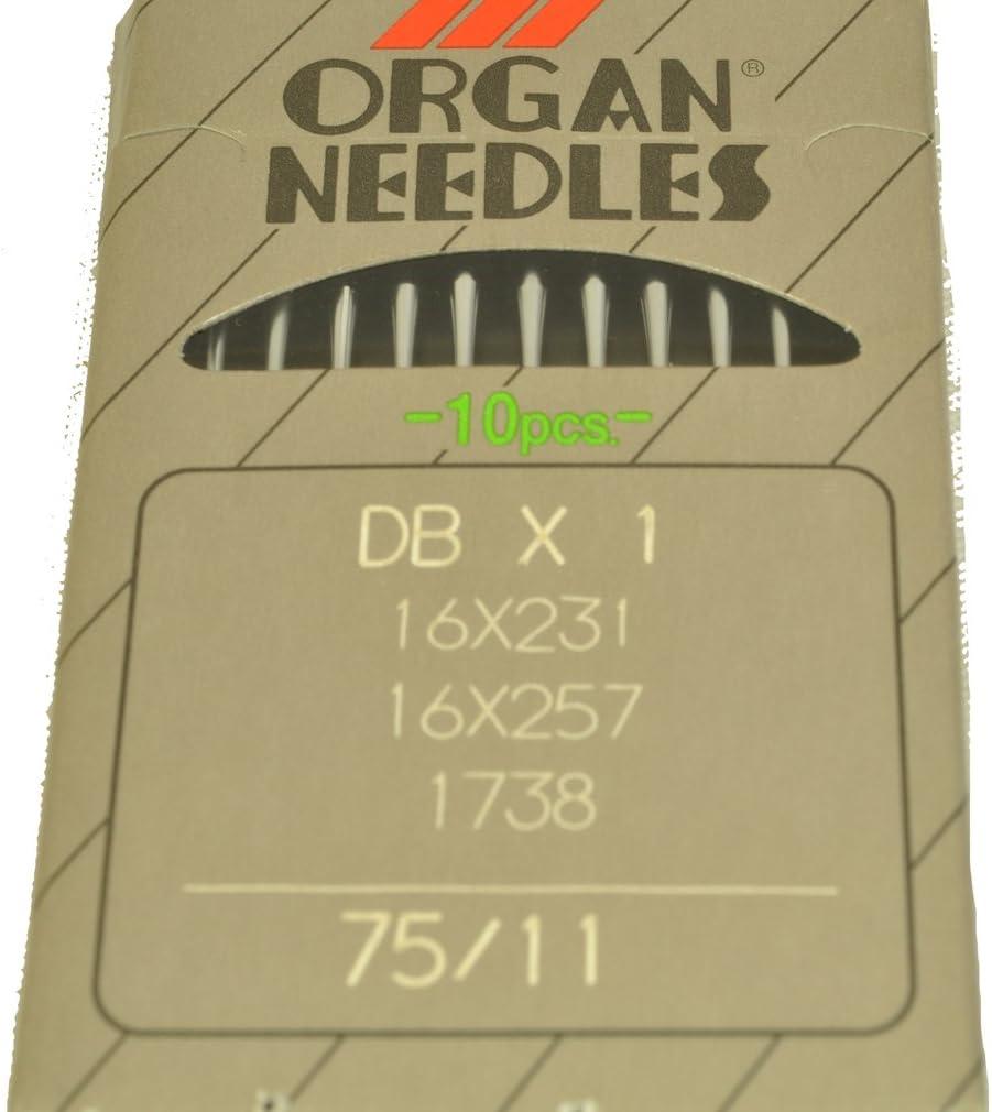 Órgano Agujas para máquina de coser 16 x 231 – 75: Amazon.es ...