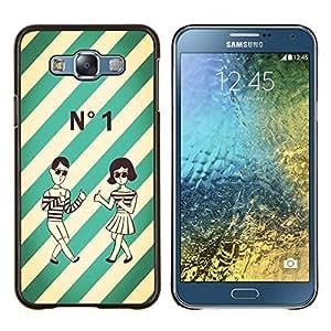 - Funny Kidding Pattern Art Cartoon Cute - - Cubierta del caso de impacto con el patr??n Art Designs FOR Samsung Galaxy E7 E7000 Queen Pattern