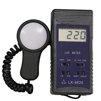 FC//LX Measurement Digital Luxmeter Electrical Testers High Accuracy Photometer Anti‑Oxidation 0-200,00LX Digital Light Meter for Schools Families