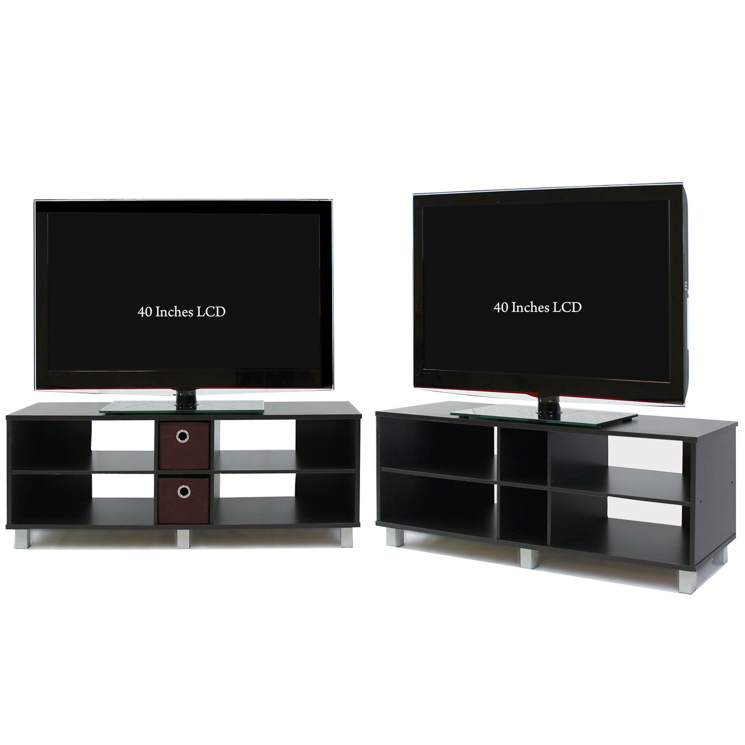 Tv Entertainment Stand Amazoncom Furinno 44 165 Inch Wood Tv Entertainment Center With