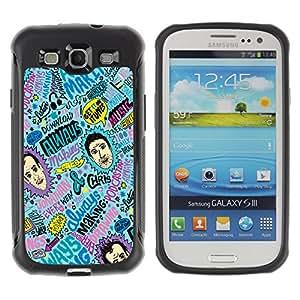 ZAKO Cases / Samsung Galaxy S3 I9300 / Abstract Colorful Pattern / Robusto Prueba de choques Caso Billetera cubierta Shell Armor Funda Case Cover Slim Armor