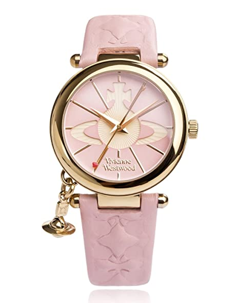 3dc855836d5 Vivienne Westwood Women's Orb II Quartz Watch with Pink Dial Analogue  Display and Leather Strap VV006PKPK: Amazon.co.uk: Watches