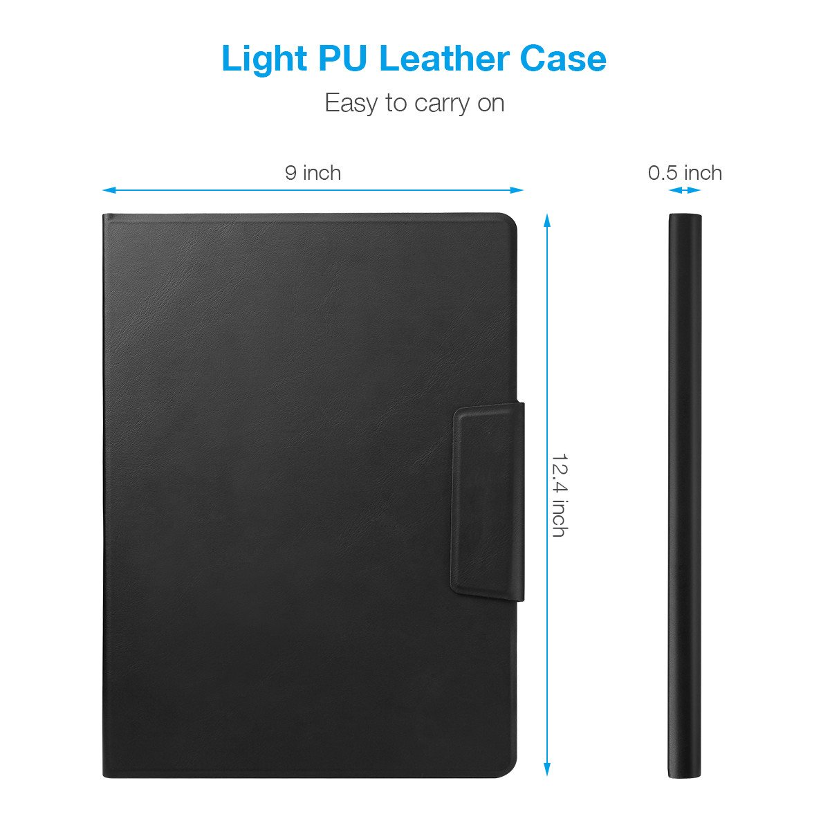 iPad Keyboard Case, Poweradd Bluetooth iPad Keyboard Folio Smart Case PU Leather Case with Removable Bluetooth Wireless Keyboard for Apple iPad Pro 12.9 Inch & iPad 12.9\