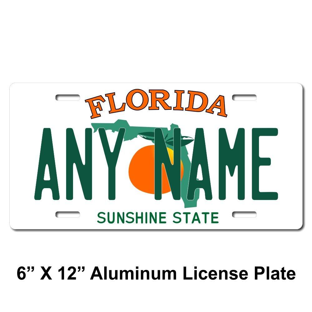 Sizes for Kids Bikes Cars Cart TEAMLOGO Personalized Florida License Plate Trucks Key Rings Version 1