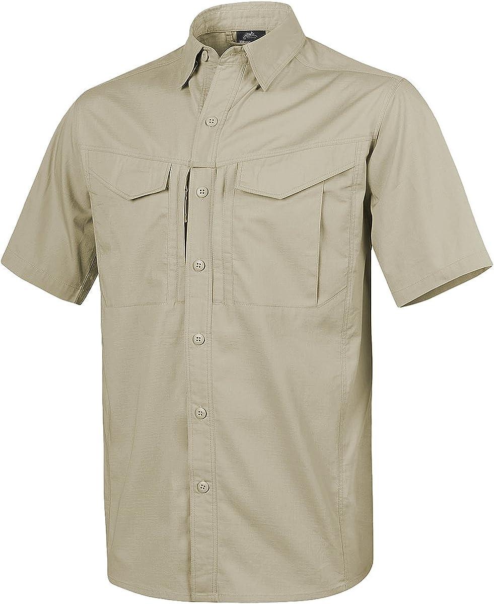 HELIKON-TEX Mens Defender Mk2 Short Sleeve Shirt Khaki