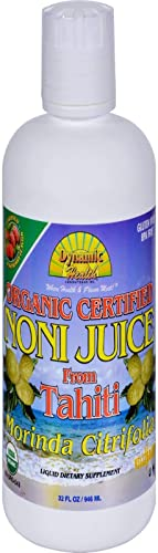 Organic Tahitian Noni Raspberry Flavor Dynamic Health 32 oz Liquid