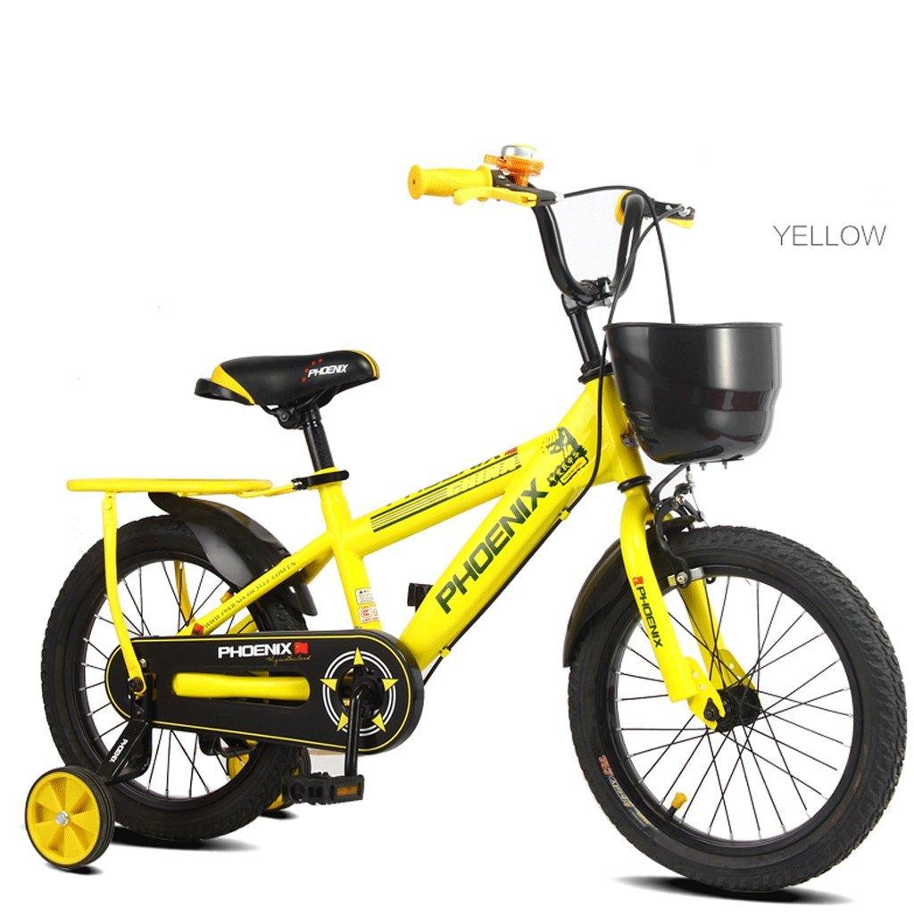 子供の自転車キッズペダル自転車の少年少女2-10歳の屋外マウンテンバイク (色 : イエロー いえろ゜, サイズ さいず : 16 inches) B07D3RBJRJ 16 inches イエロー いえろ゜ イエロー いえろ゜ 16 inches