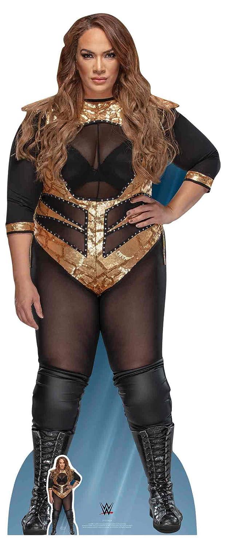 Star Cutouts SC1210 Official Lifesize Cardboard Cutout WWE Figure Nia Jax 183cm Tall, Multicolour