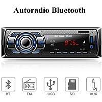 Aigoss Autoradio Bluetooth, Control Remoto Manos Libres FM