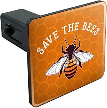 Graphics and More Bee on Honeycomb Tow Trailer Hitch Cover Plug Insert 2