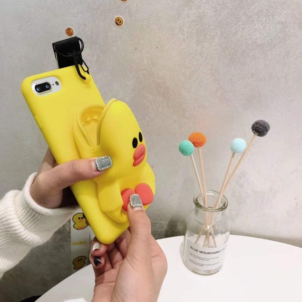 Twinlight Cute 3D Cartoon Cony Sally Bear Rabbit Chicken Phone Case for iPhone 7 8 Plus X XS XR XS max Soft Silicone Cover (Yellow, for iPhone 7plus 8plus)