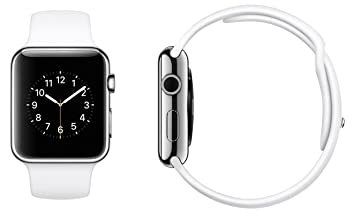 brand new f42e2 8d0c5 Apple Watch 7000 Series 38mm Aluminum Case Sport with White Sport Band