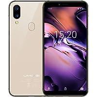 "UMIDIGI Mobile A3 5.5"" 16GB Unlocked Cell Phone Android 8.1-2GB Ram Triple Slot, 2 NanoSIMs+Micro-SD 12MP + 5MP Dual Camera Fingerprint ID 3300mAh Battery Smartphone(Gold)"