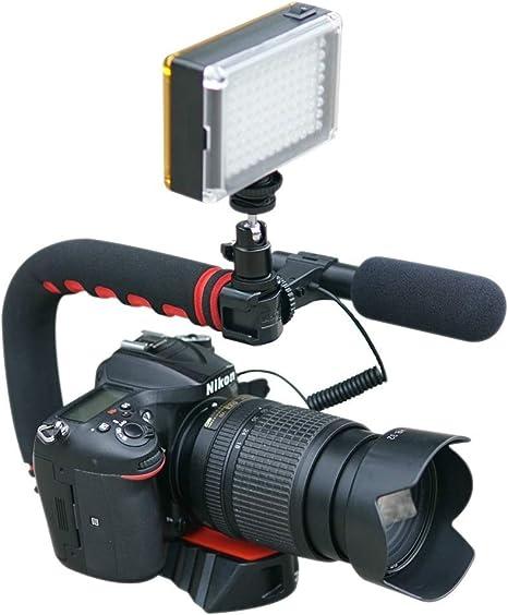 Pro Video Stabilizing Handle Grip for Sony Cyber-Shot DSC-T77 Vertical Shoe Mount Stabilizer Handle